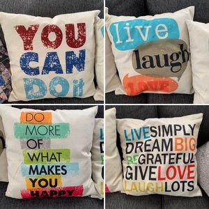 Other - 4 inspirational pillow covers